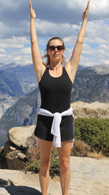 Dustienne Miller in mountain pose