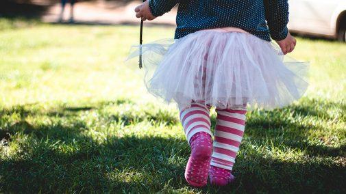 Child walking in tutu, by Marjorie Bertrand via Unsplash