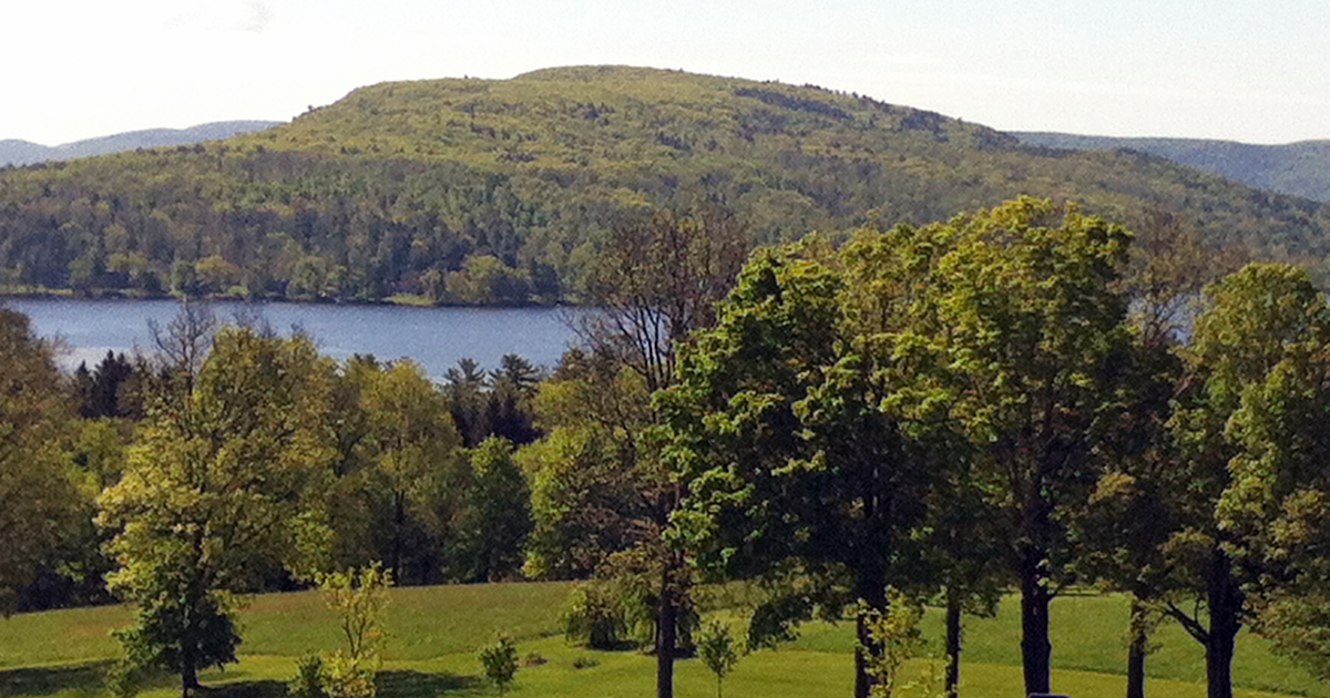View of hills at Kripalu