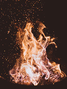 Fire, photo by Joshua Newton via Unsplash
