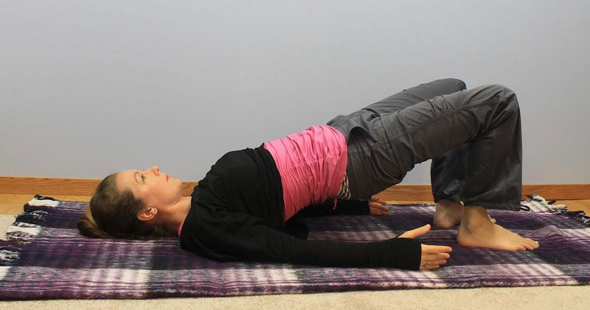 bridge pose for pelvic organ prolapse