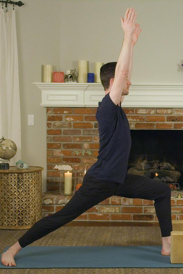 Try Warrior 1 for balance, strengthening, and lengthening