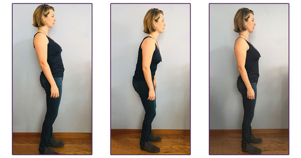 Different postures while standing