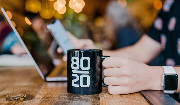 Mug that says 80/20