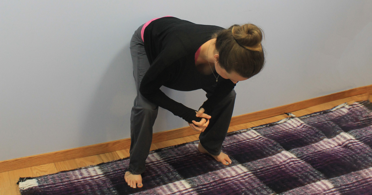 Starting point for active hamstring stretch