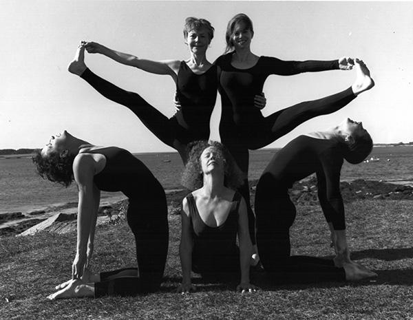 Elaine McGillicuddy and Lesley Hoey with Portland Yoga Studio teachers