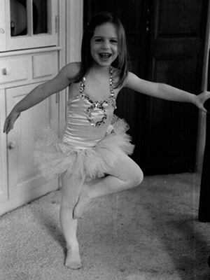 Lesley Hoey as a young dancer