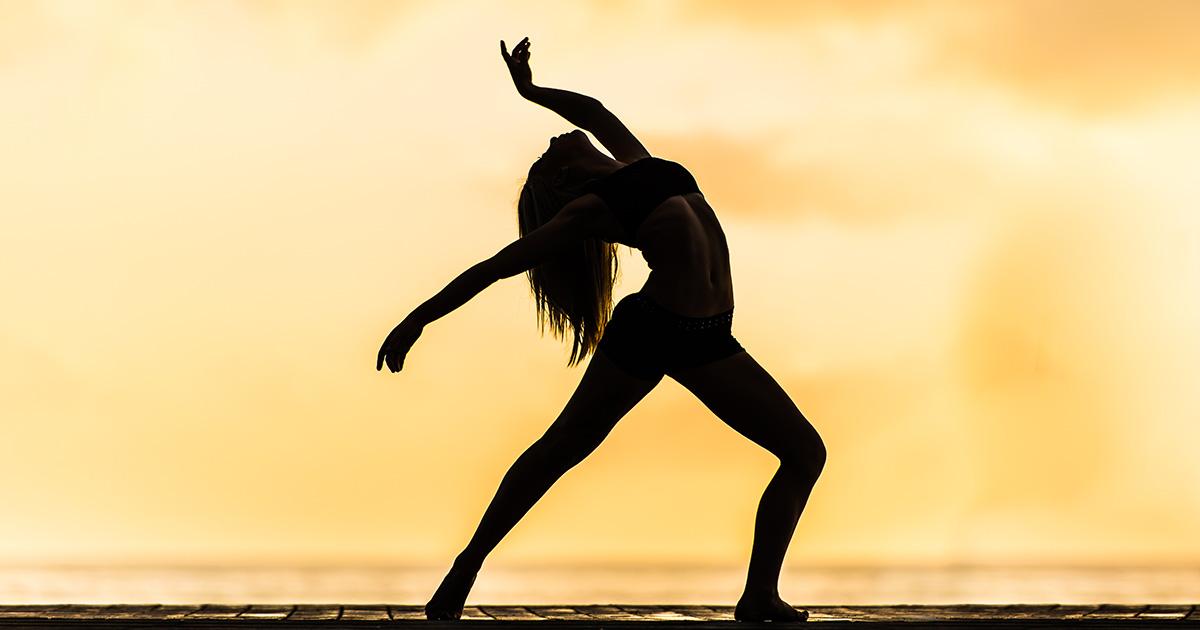 Dancer at the beach